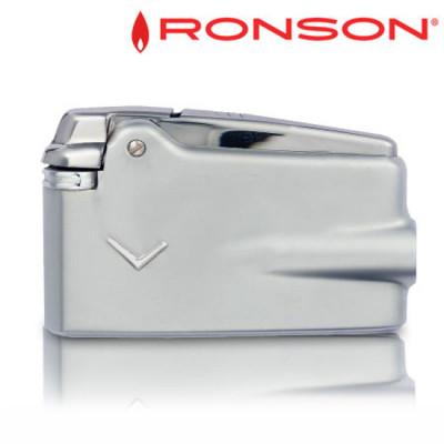 """Ronson VaraFlame - Vuursteen aansteker - Chroom+Satijnen """"V"""""""