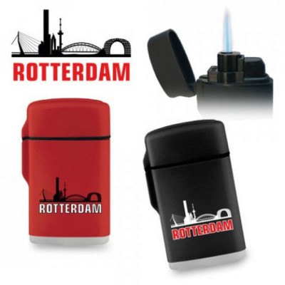 Zorr JetFlame aansteker Rubber - Rotterdam - Display (20-stuks)