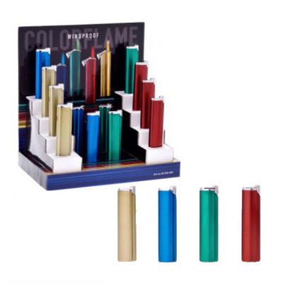 Champ Colorflame - Turbo aansteker - Diplay (12-stuks)