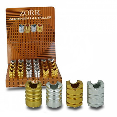 Zorr - Sigarettendover - Open - Alumium - Goud + Chrome - Display (24-stuks)