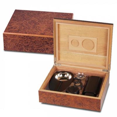 Bookwill Humidor Giftset - Burley 260x225x085mm