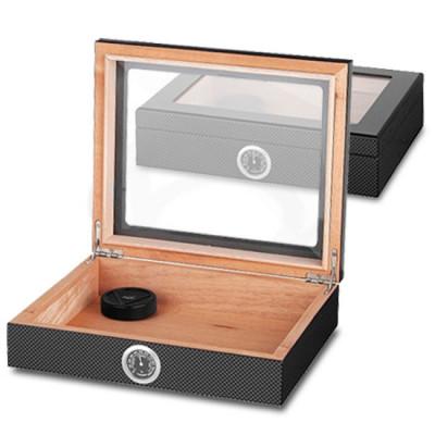 Humidor Bookwill Horeca Carbon / glas / 260x220x67mm