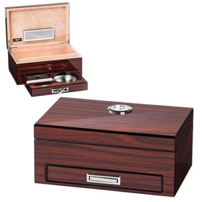 Bookwill Mini Humidor set 91x204x133 mm Bruin