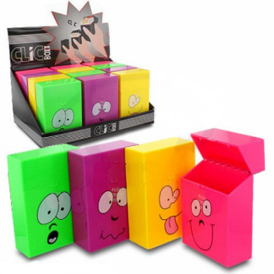 ClicBoxx - Sig.box/huls - Plastic - 85mm - 20 Sig. - Pop-Up Smiley - Display (12-stuks)