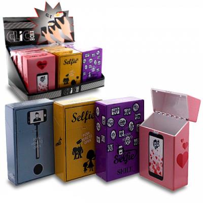 ClicBoxx - Sig.box/huls - Plastic - 85mm - 20 Sig. - Pop-Up Selfie - Display (12-stuks)