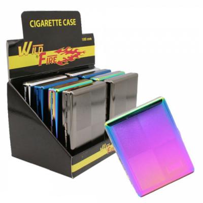 Wildfire - Sigarettenkoker - 100mm -  Clip - Metaal - Rainbow - Display (8-stuks)