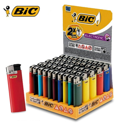 BIC Maxi J38 - Wegwerp Piezo - Electric - Display (50-stuks)