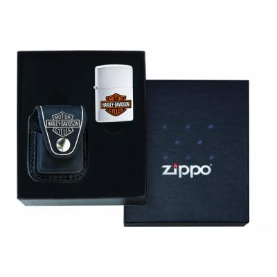 Zippo - Lighter Pouche (Etui) - Harley-Davidson - Gift-set (zonder aansteker)