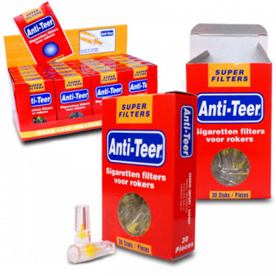 Anti-Teer - Sigaretten filters - 30 Filters per doosje - Display (20-stuks)