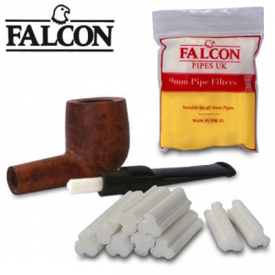 Falcon - Pijpfilters - 9mm - 25 Stuks per pakje - Display (6-pakjes)