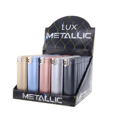 Lux - Wegwerp Piezo - Metallic - Display (50-stuks)