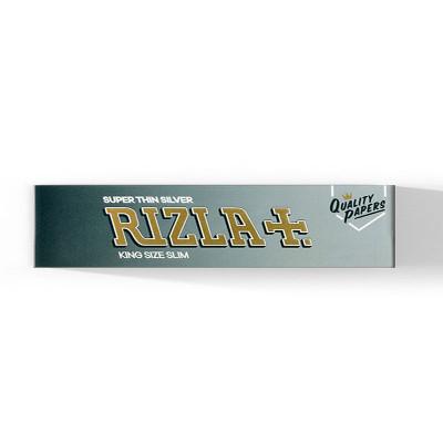 Rizla - Vloei - Silver - King Size Slim - 32 Vloeitjes per booklet - Display (50-stuks)