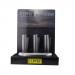 Clipper - Vuursteen aansteker - Zwart Gradient Metal- Display (12-stuks)
